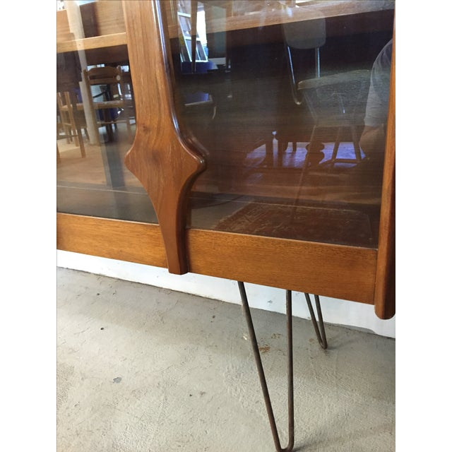 Mid Century Modern Cabinet on Hairpin Legs - Image 8 of 10