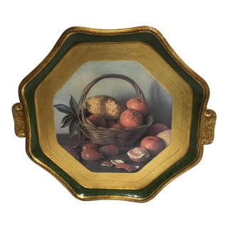 Vietri Florentine Octagon Tray For Sale