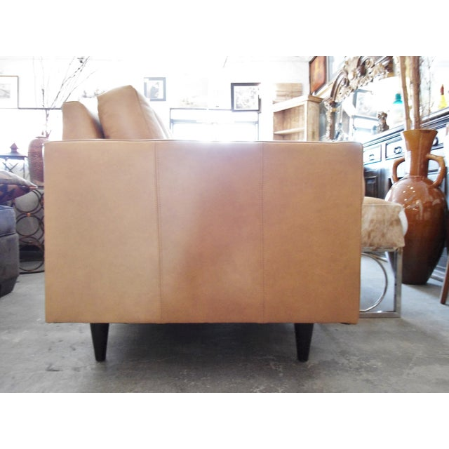 Modern Mocha Leather Sofa - Image 7 of 7