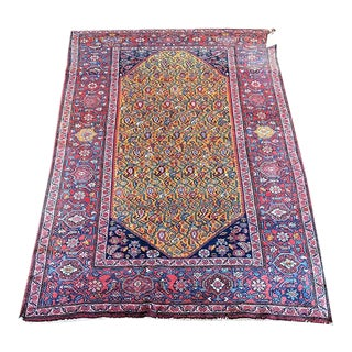 1930s Vintage Persian Seneh Area Rug - 3′8″ × 5′9″ For Sale