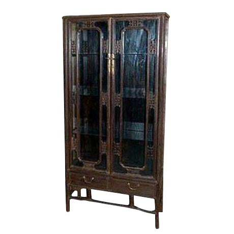 - Antique Chinese Chicken Wing Wood Display Cabinet Chairish