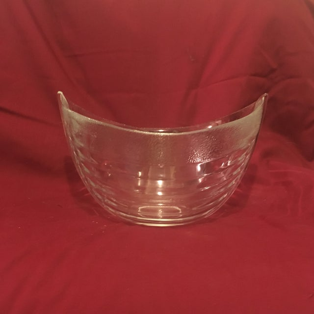 Nybro Crystal Boat Bowl For Sale - Image 9 of 9