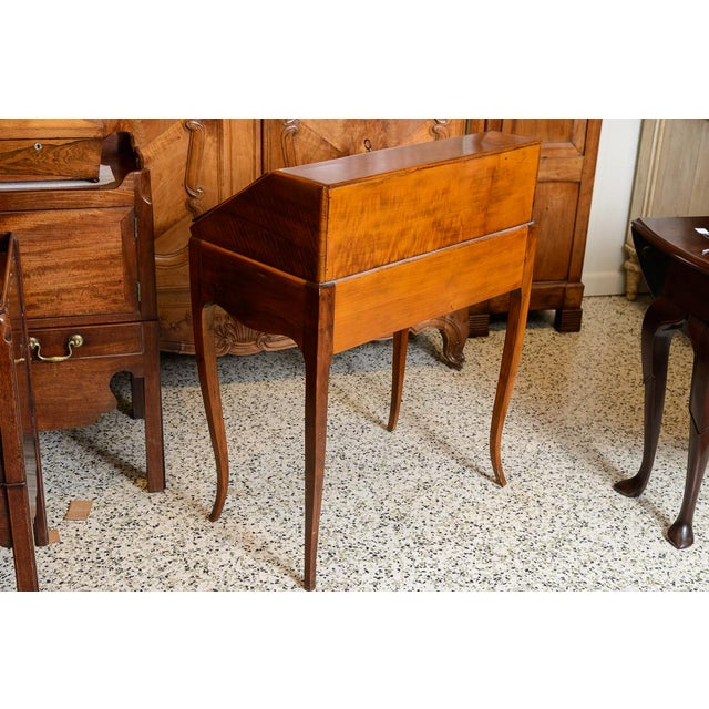 French Cherry Slant Front Desk For Sale - Image 4 of 9