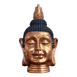 Buddha Gold Gilt Bust For Sale