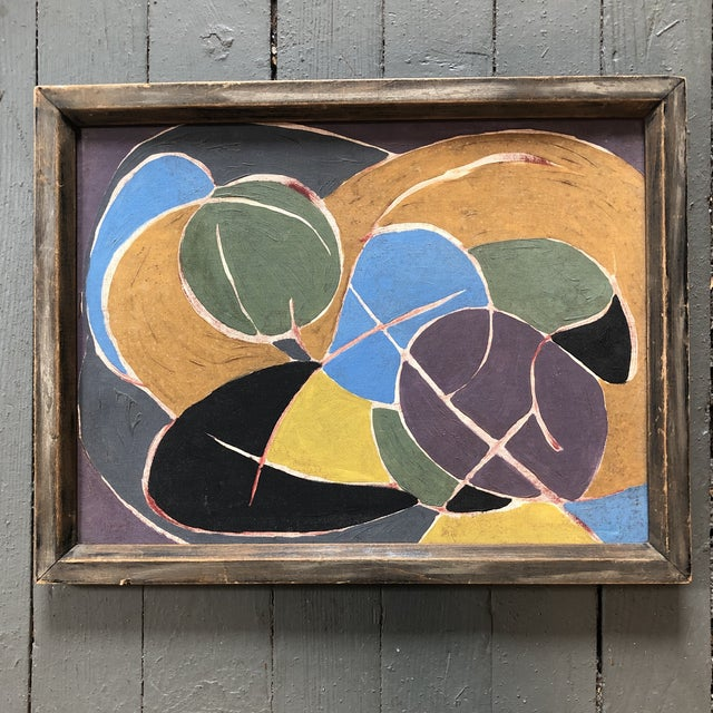 Mid Century Modern Original Abstract Painting For Sale In Philadelphia - Image 6 of 6