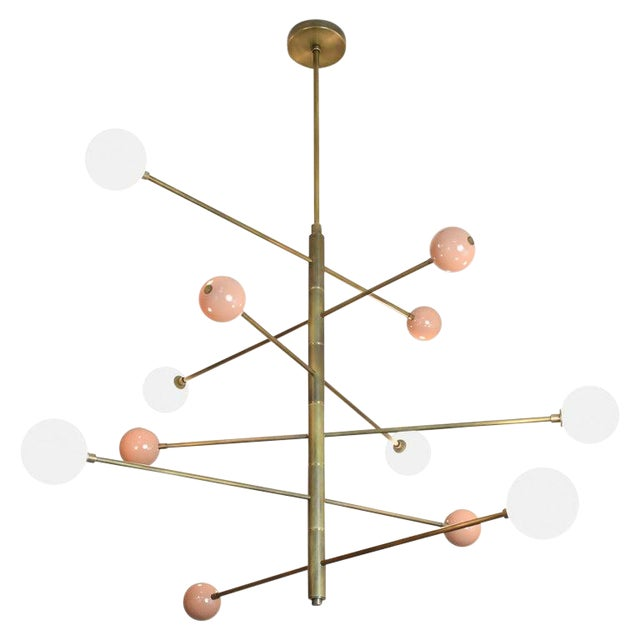 """Orbital"" Chandelier by Blueprint Lighting For Sale"