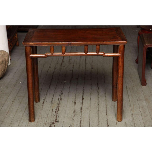 Asian Qing Dynasty Elmwood Small Console Wine Table from China, 19th Century For Sale - Image 3 of 10