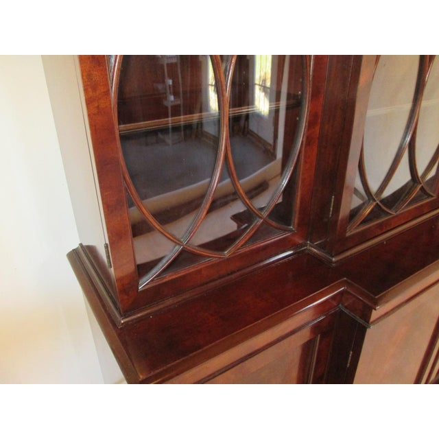 """Custom made breakfront by Old Colony of Boston MA. the """"Singleton"""" . This mahogany breakfront china cabinet or bookcase...."""