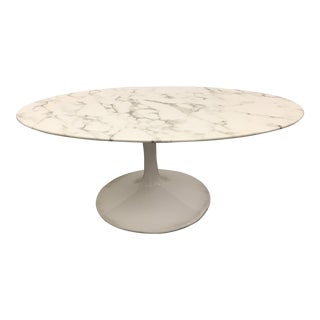 Mid-Century Faux Marble Coffee Table