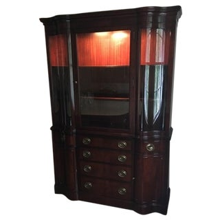 Drexel Mahogany Meriden Collection China Cabinet For Sale