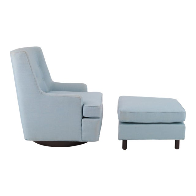 Edward Wormley for Dunbar Swivel Lounge Chair & Ottoman - Image 1 of 5
