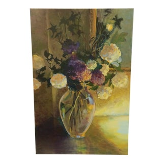 """Giclee on Canvas """"Volcano B & B"""" Flowers in Vase by K. L. Dana For Sale"""