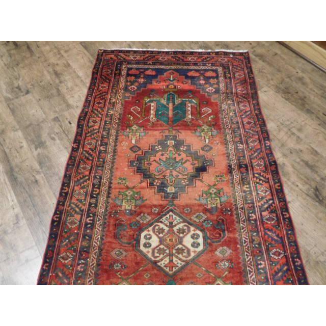 Antique Persian Karaja Runner - 3′7″ × 14′ - Image 8 of 10