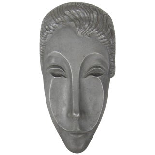 Midcentury Modern Letitia Mask Sculpture by Evaline Clark Sellors, Circa 1960 For Sale