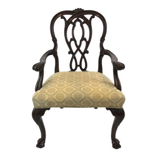1990s Vintage Karges Chippendale Style Mahogany Armchair For Sale