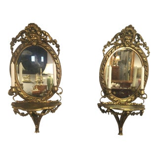 18th Century English Gilt Girandoles - a Pair For Sale