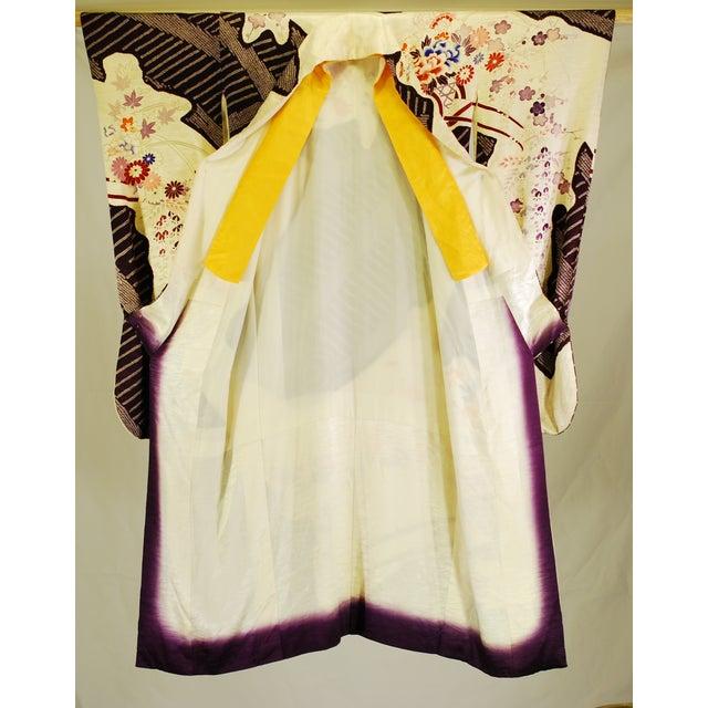 Vintage Silk Traditional Furisode Kimono - Image 2 of 9