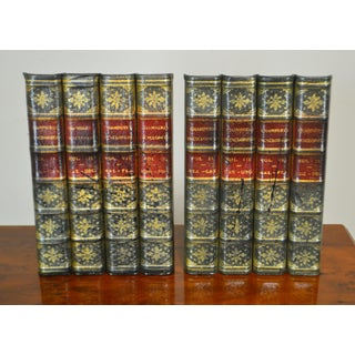 Maitland Smith Pair Leather Bound Faux Book Facades (A) Preview