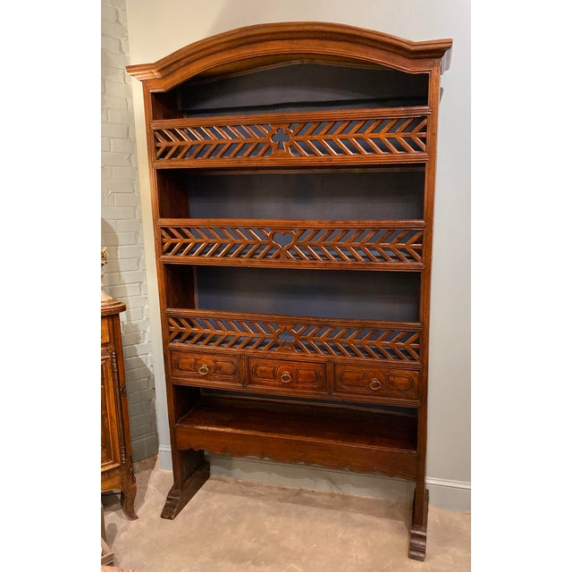 Chestnut 19th Century Antique French Bookcase For Sale - Image 8 of 8