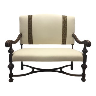 Large Federal Revivalist Style Settee For Sale