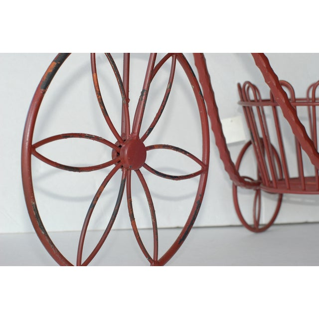 Metal Antique Garden Tricycle Plant Stand - Image 3 of 3