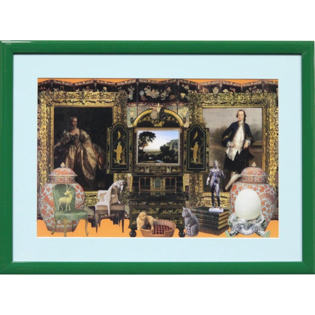 Estate Interior Decoupage Painting For Sale