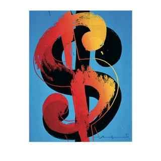 Andy Warhol, One Dollar Sign, Offset Lithograph, 2000 For Sale