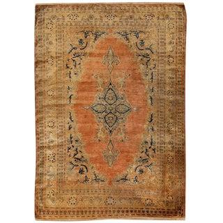 Antique 19th Century Persian Silk Tabriz Rug For Sale