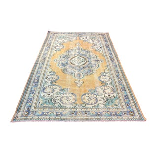 """Antique Turkish Traditional Rug-5'10'x9'6"""" For Sale"""