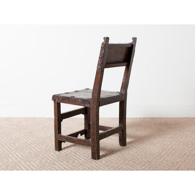 Mediterranean Vintage Spanish Chair For Sale - Image 3 of 5