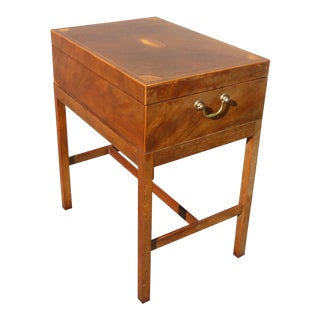 Baker Furniture Company Burl Wood Box Accent Table