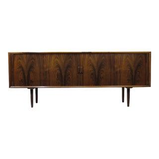 Arne Vodder for P. Olsen Sibast Mobler Rosewood Tambour Credenza Sideboard For Sale