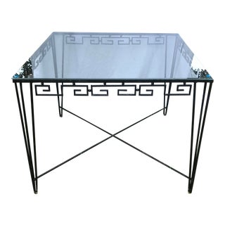 Wrought Iron Table With Greek Key Design For Sale