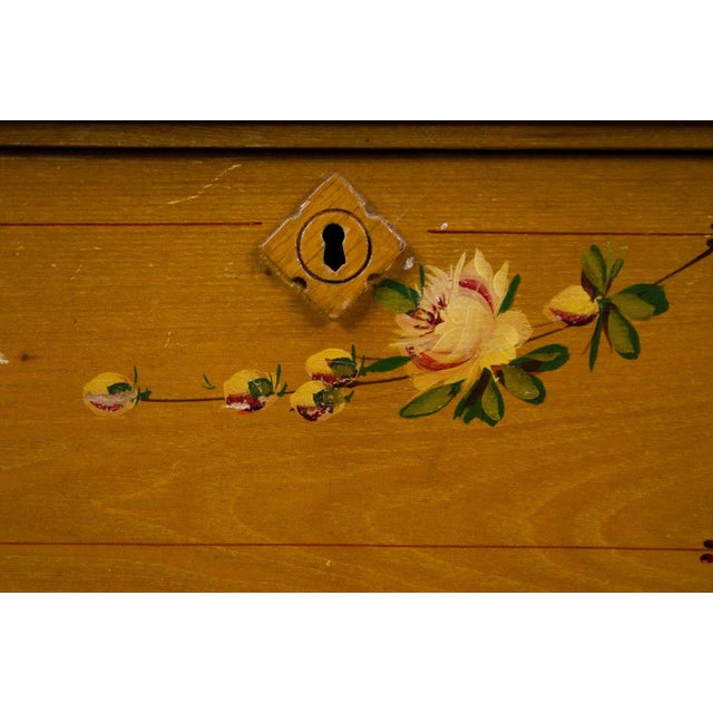 Arts and Crafts Style Floral Motif Dresser With Mirror For Sale - Image 10 of 13