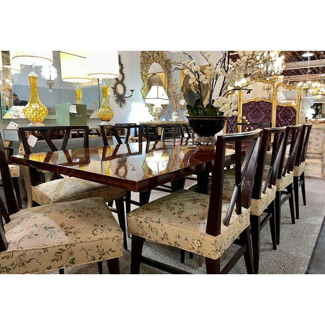A Tommi Parzinger Originals Dining Table Fully Refinished With Two Leaves For Sale - Image 9 of 13