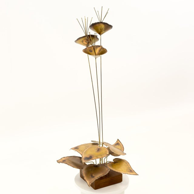 Contemporary Curtis Jere Mid-Century Brass Sculpture For Sale - Image 3 of 6