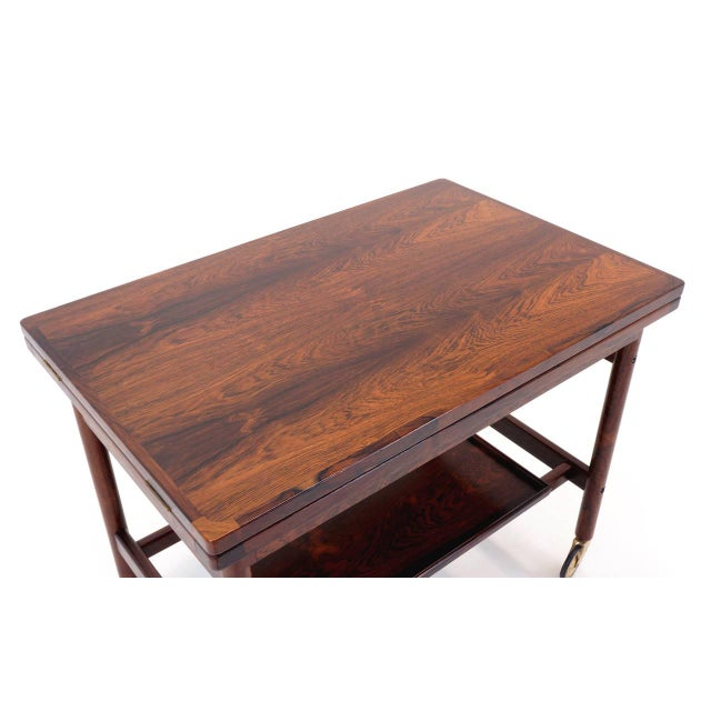 Expandable Rosewood Bar/Serving Cart by Jason Mobler, Denmark For Sale - Image 5 of 10