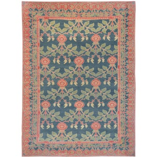 """Mansour Arts and Crafts Woven Rug - 6'8"""" X 9'3"""" For Sale"""
