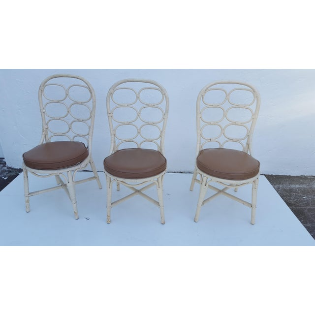 Franco Albini Inspired Rattan Dining Chairs - Set Of 6 - Image 4 of 11