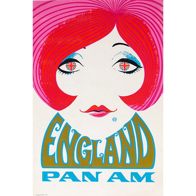 Reproduction Pan Am England Travel Poster - Image 3 of 4