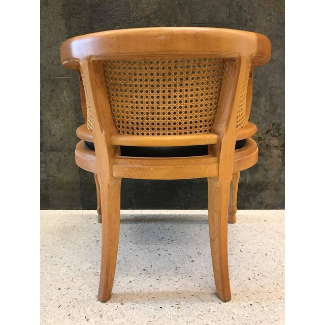 Pair of Neoclassical Style Rams Head Birchwood Bergeres Chairs For Sale In New York - Image 6 of 7