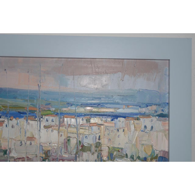 "1980s Italo Botti ""Mast Reflections"" Impasto Oili Painting C.1987 For Sale - Image 5 of 6"