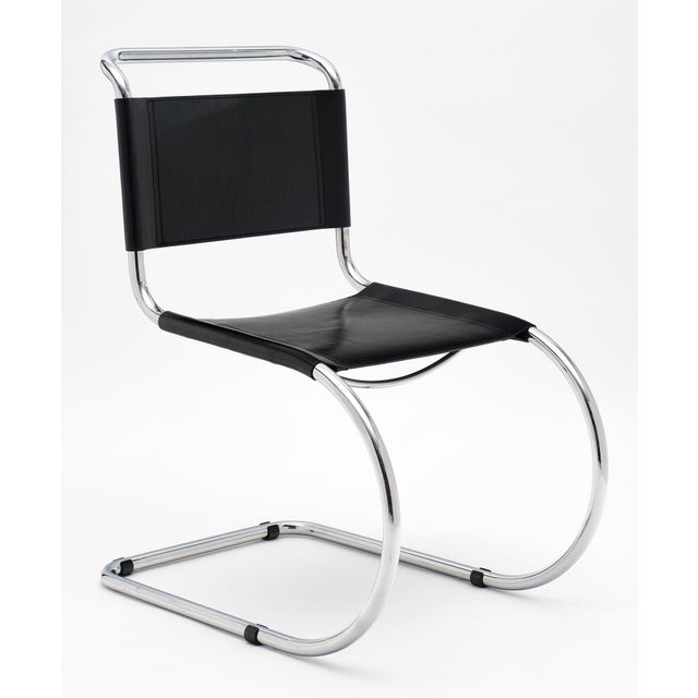 Metal Vintage Mies Van Der Rohe Cantilever Chairs - a Pair For Sale - Image 7 of 10