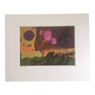 "1960s Vintage Sister Corita Pop Modernist ""Still Falls the Rain"" Print For Sale"