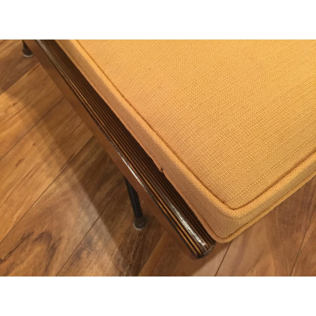 New Yellow Upholstery Mid-Century Boomerang Chair For Sale - Image 9 of 11