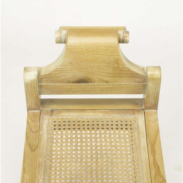 Pair Swedish Rococo Style White Glazed Pine Benches - Image 10 of 10