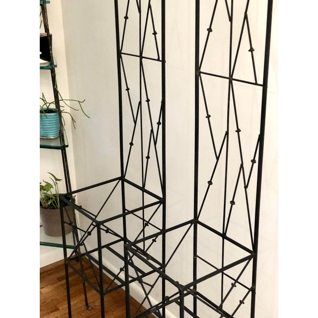 Late 20th Century Iron Trellis Plant Stands - a Pair For Sale In Atlanta - Image 6 of 12