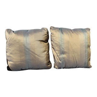 1980s Vintage Contemporary Silk Pillows - a Pair For Sale