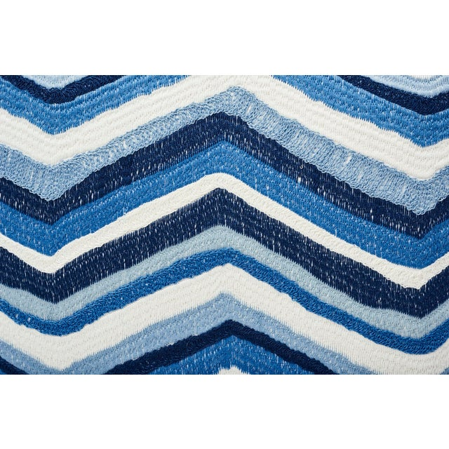 Contemporary Schumacher Double-Sided Pillow in Shasta Embroidery Textured Print For Sale - Image 3 of 7