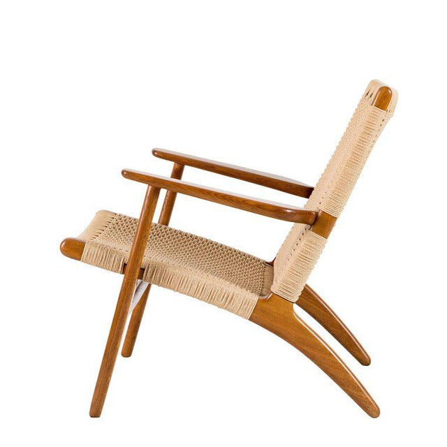 Boho Chic Hans Wegner Ch-25 Lounge Chair For Sale - Image 3 of 10